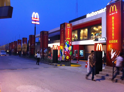 Noida  McDonald's Party Area on the Upper Deck and Dessert Kiosk