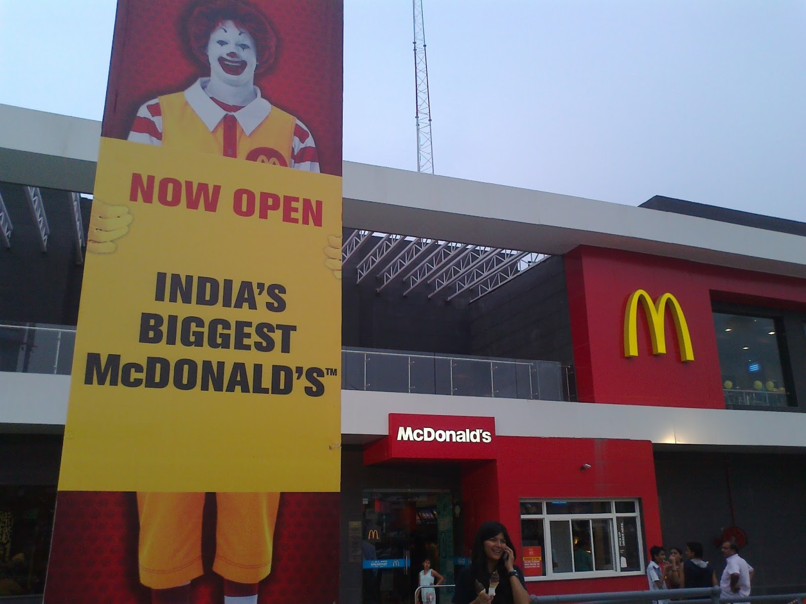India's Biggest McDonald in Noida