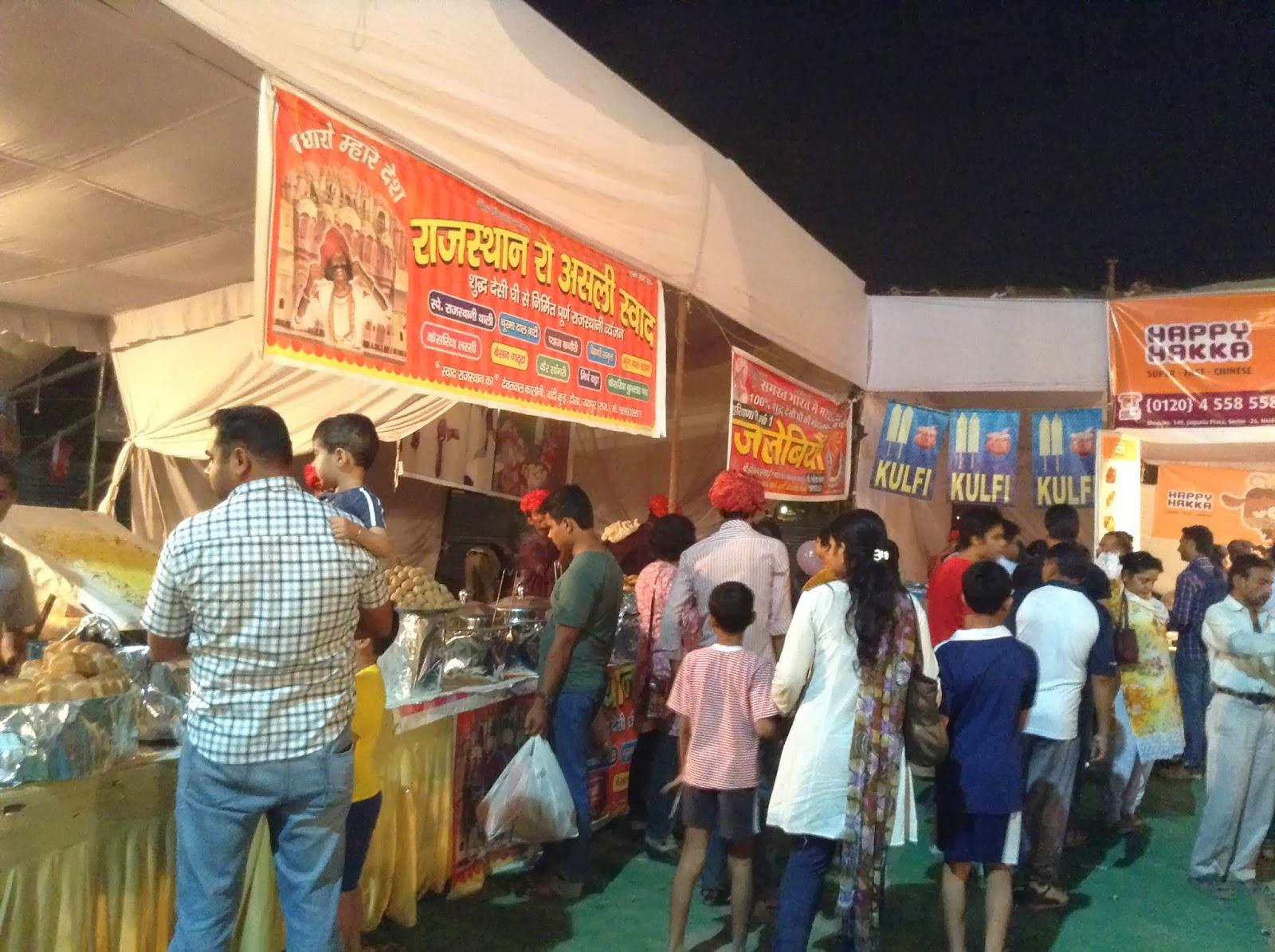 Food Stalls at the Deep Utsav, Noida
