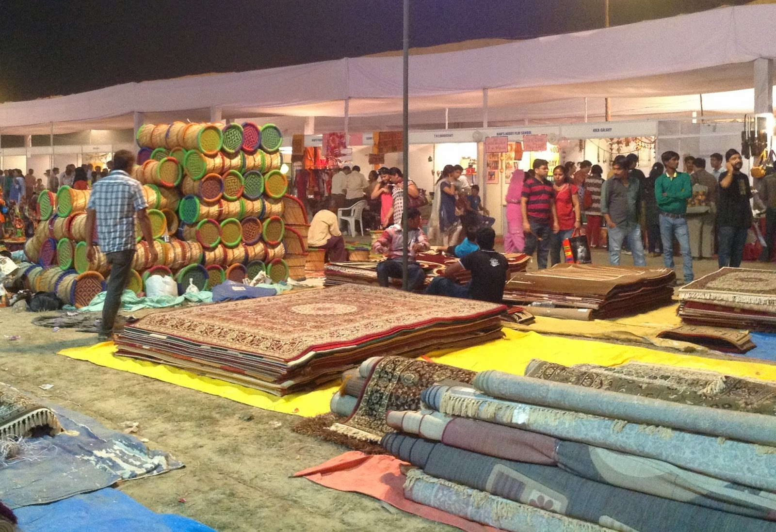 Carpets are a rage among festival buyers at Deep Utsav, Noida