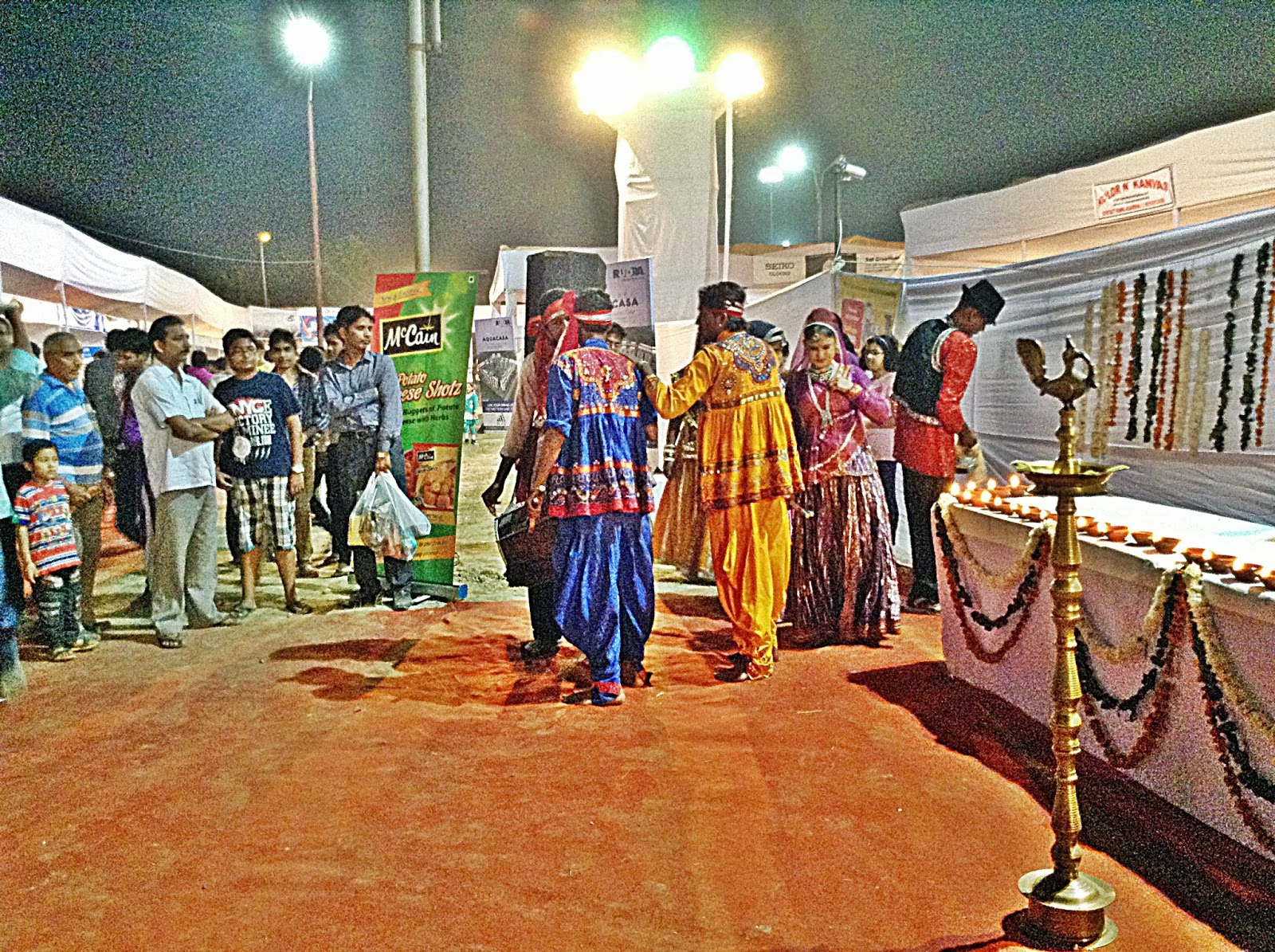 Folk Dancers at the Deep Utsav, Noida