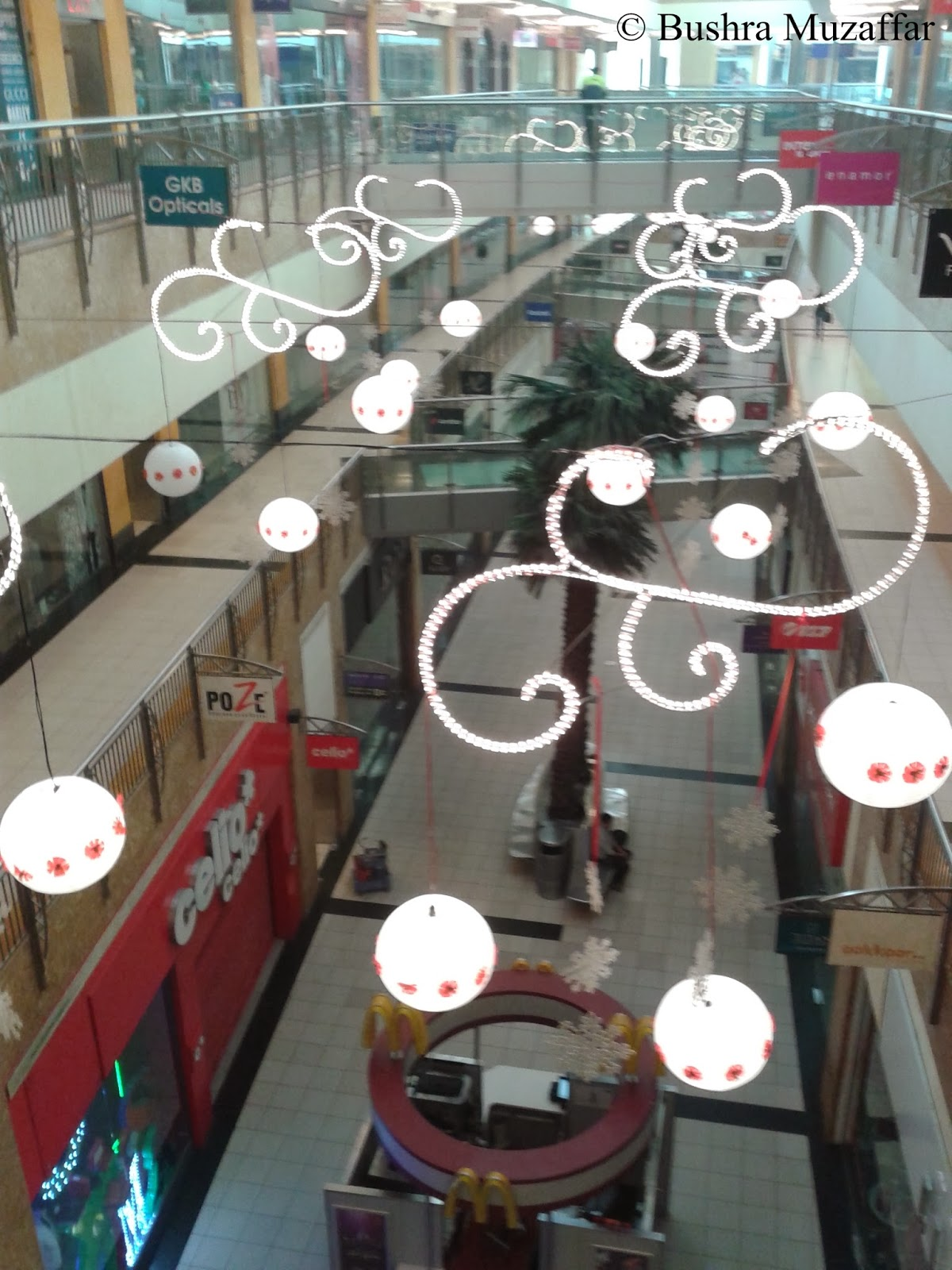 TGIP Mall, Noida decorated with beautiful lights