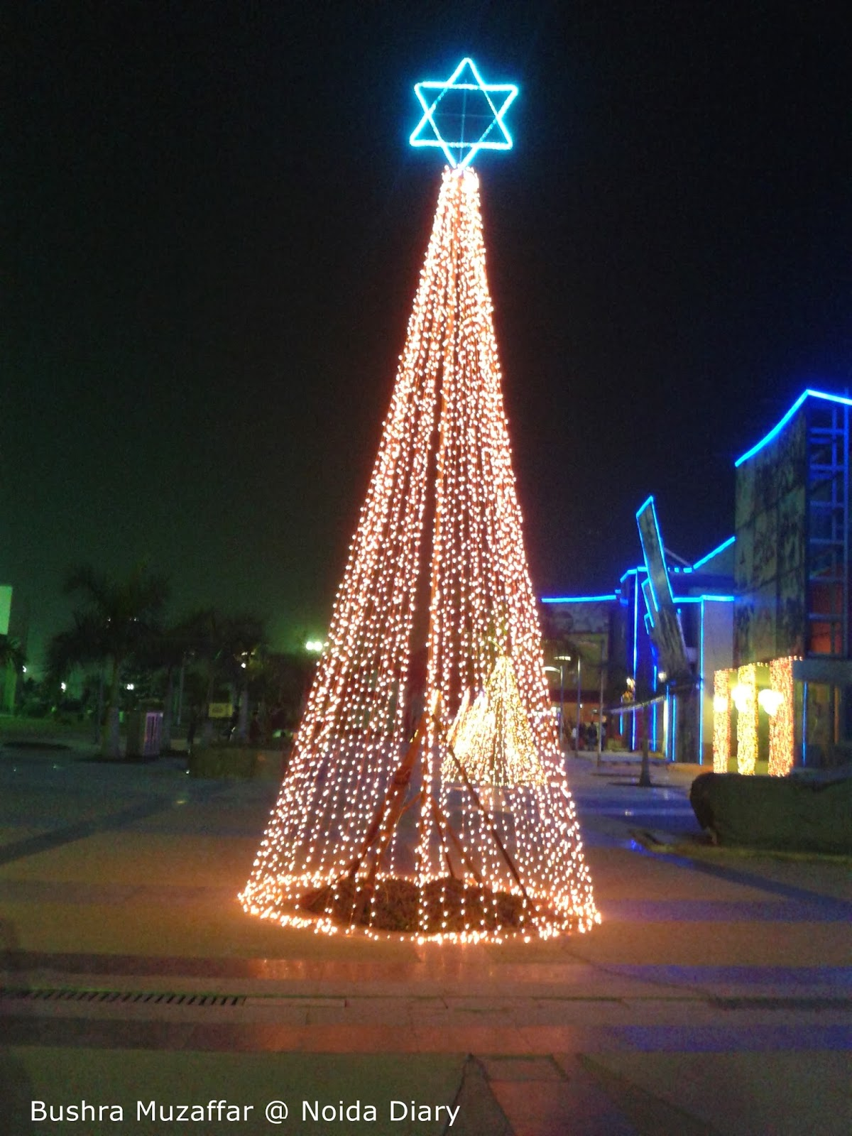 Festive Lighting near WOW and EOD at TGIP, Noida