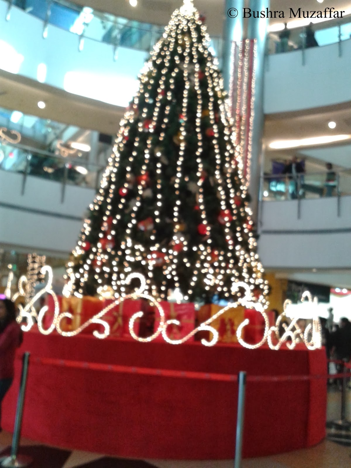 Christmas Tree at the center of the TGIP Mall, Noida