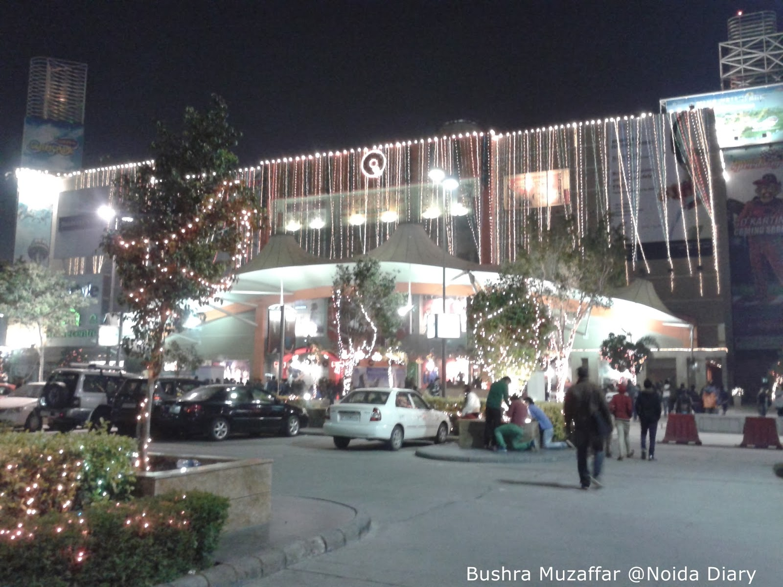 Bright lights covered the TGIP Mall for Christmas