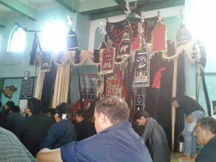 Day of Mourning - Ashura/Muharram. Devotees at the Majlis.