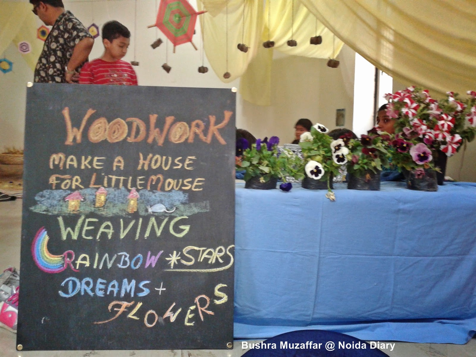 Woodwork and Weaving Activities at Vasant Udaya in Noida