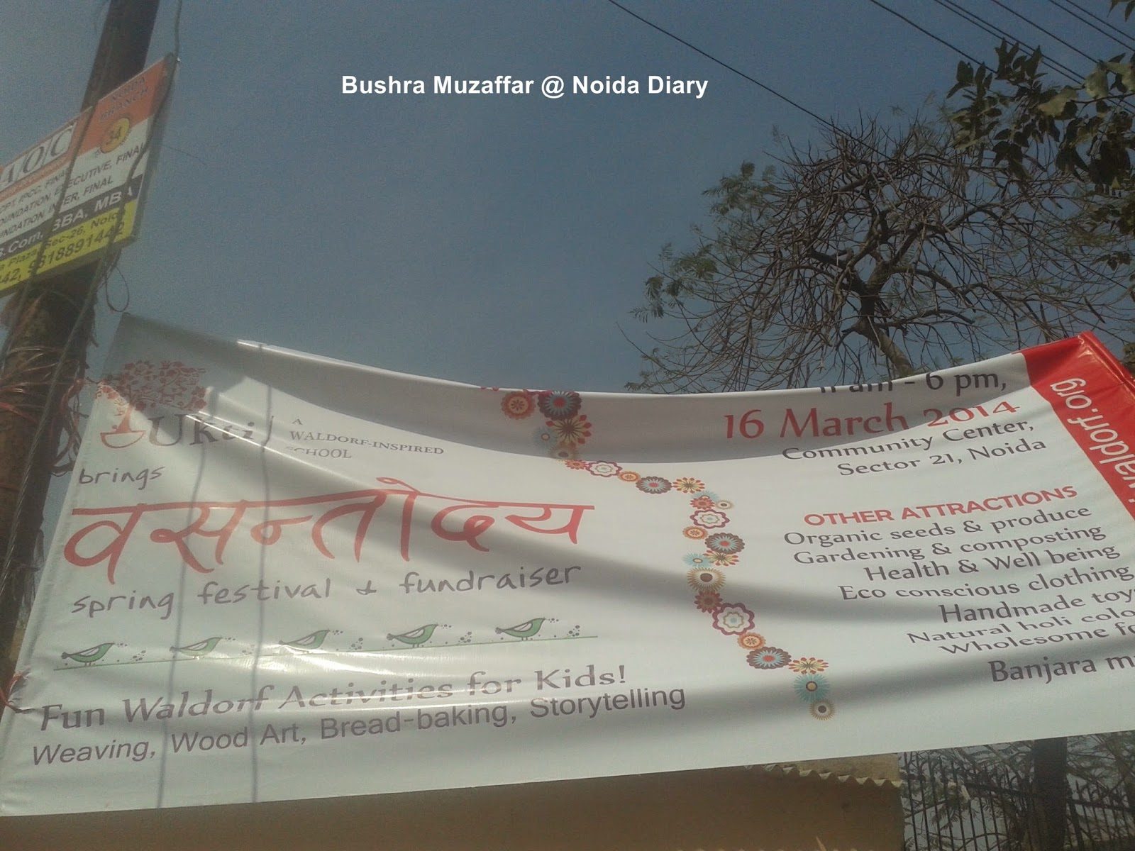 Vasant Uday - Spring Festival and Fundraiser at Jal Vayu Vihar Community Center, Sector 21, Noida
