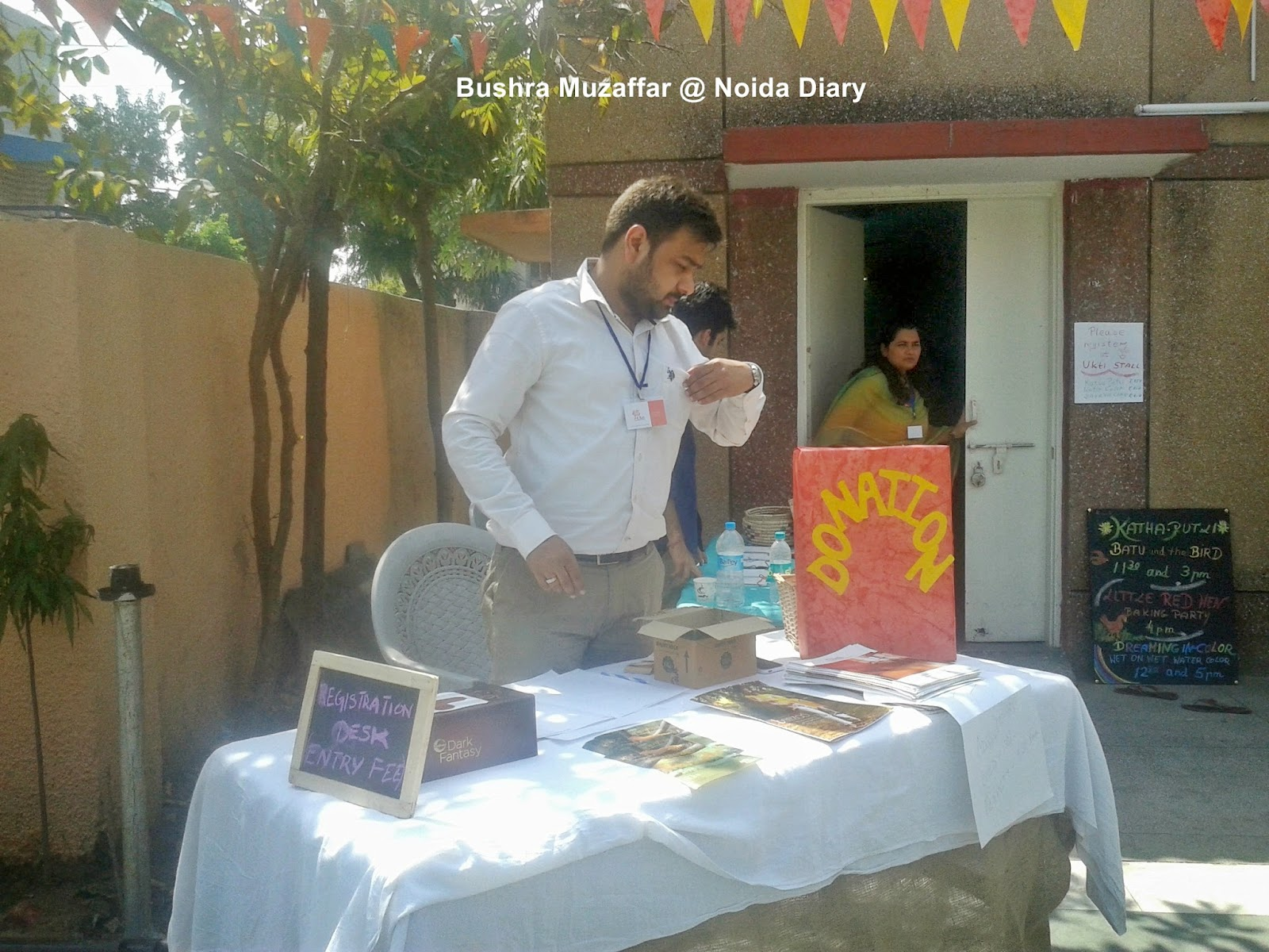 Registration Desk of the Spring Festival, Noida