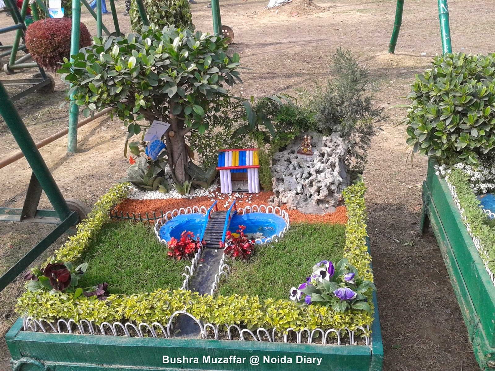Mini Garden at Noida Flower Show 2014