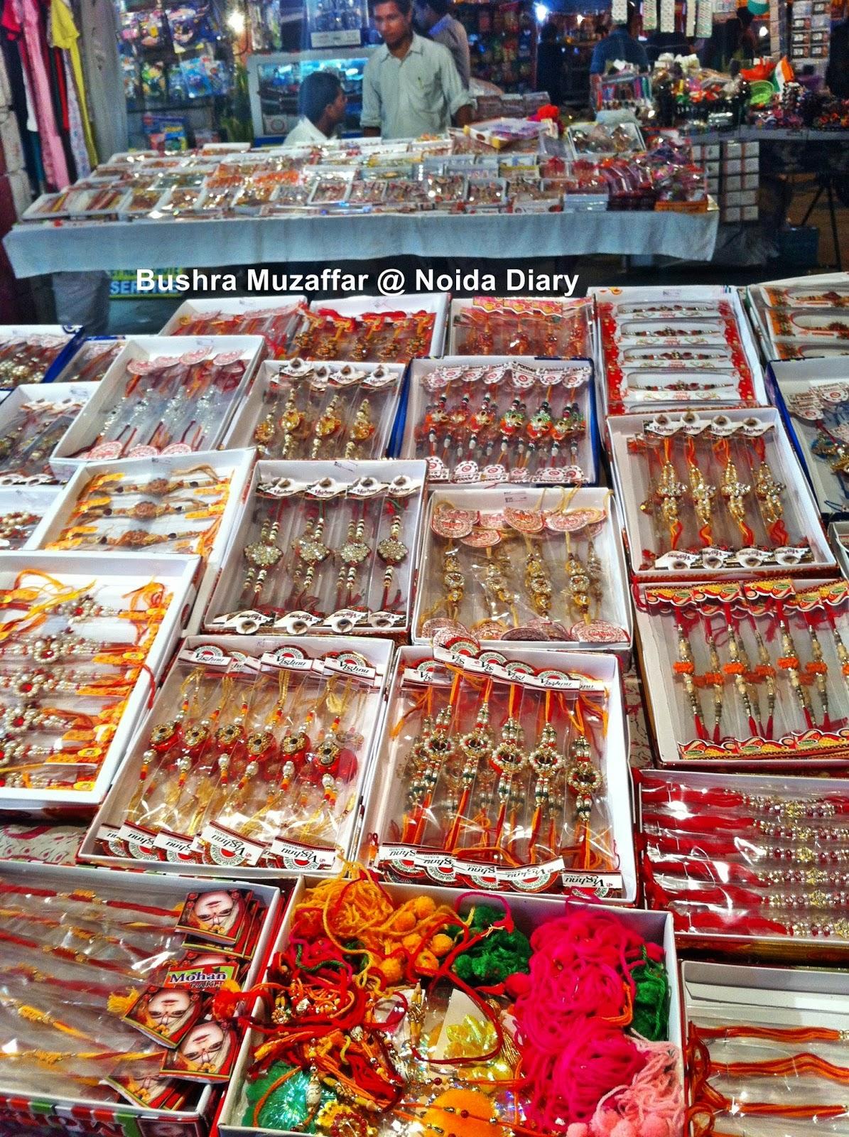 Rakhi Stall at Brahmaputra market, Sector 29, Noida