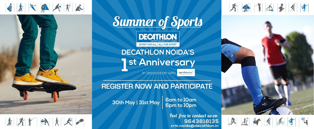Decathlon 1st Anniversary Celebrations in Noida