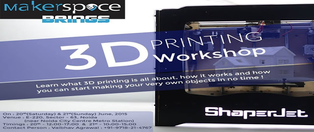 3D Printing Hands-on Workshop in Noida
