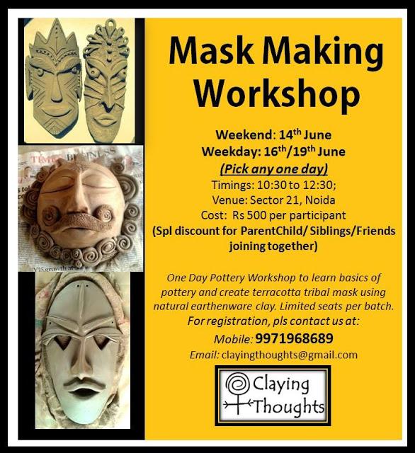 Mask Making Workshop at Sector 21 Noida
