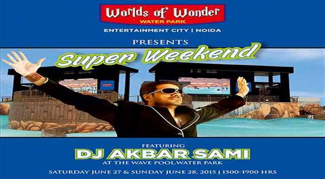 DJ Akbar Sami at the Wave Pool of WOW Water Park on Weekend in Noida