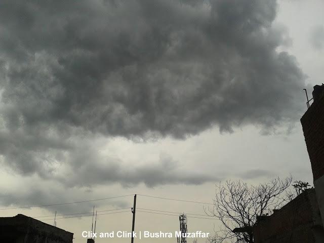 Overcast sky in our neighborhood