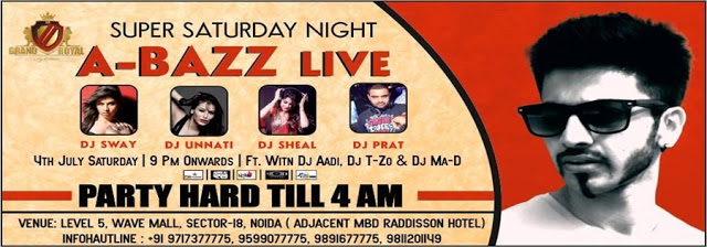A BAZZ LIVE FOR SUPER SATURDAY NIGHT AT THE GRAND ROYAL, NOIDA