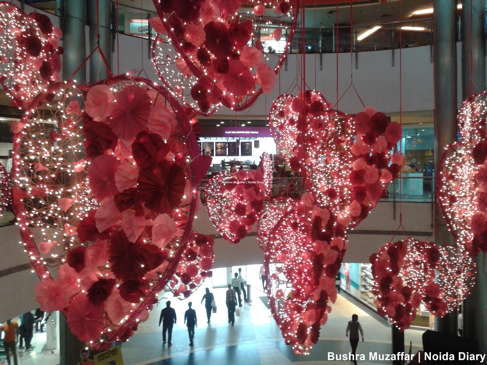 Valentine's Decoration at the The Great India Place Mall