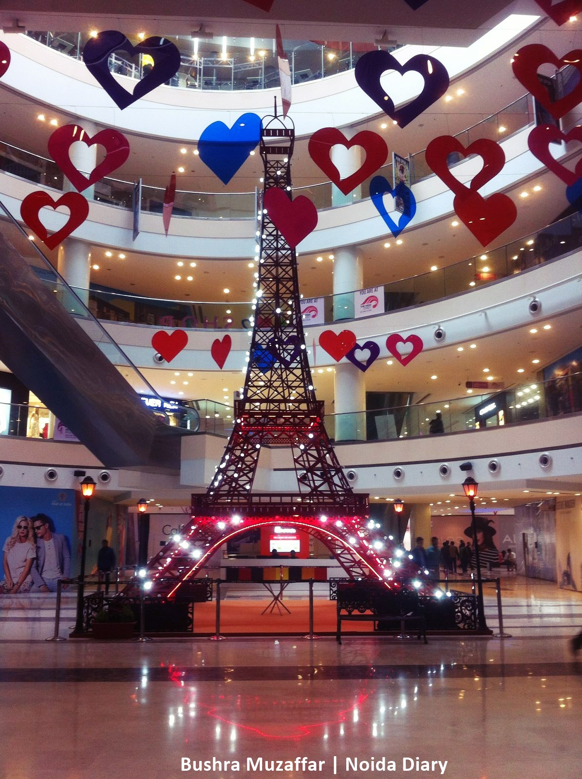 Valentine's Day Decor at Noida Malls