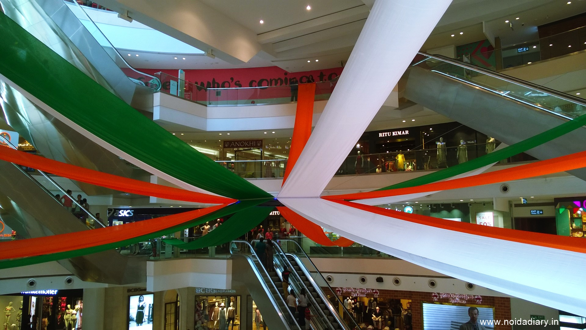 Noida Diary: Independence Day Decor at DLF Mall of India, Noida