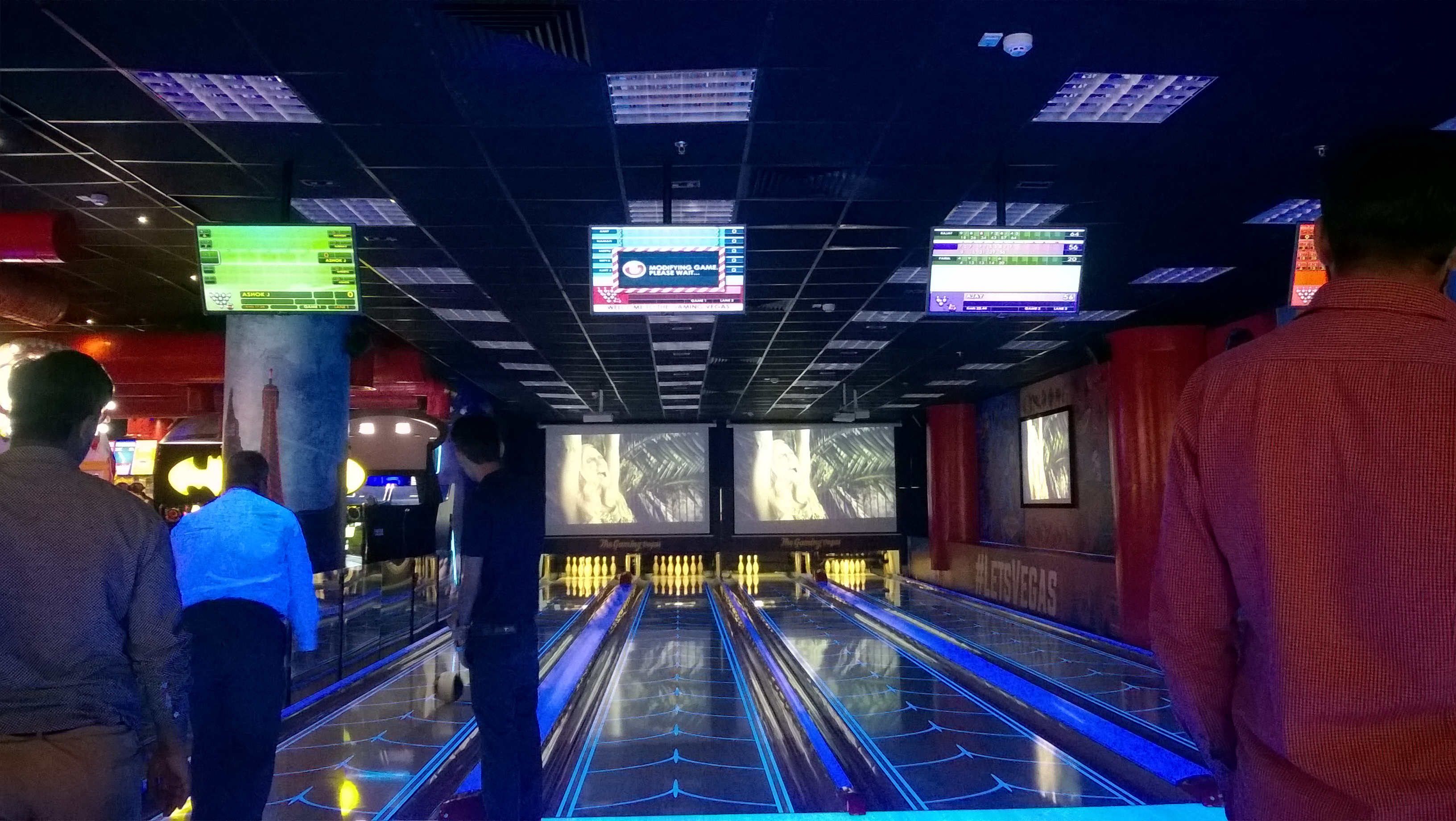 Bowling Alley in Downtown Legends Bowl at The Gaming Vegas of Noida