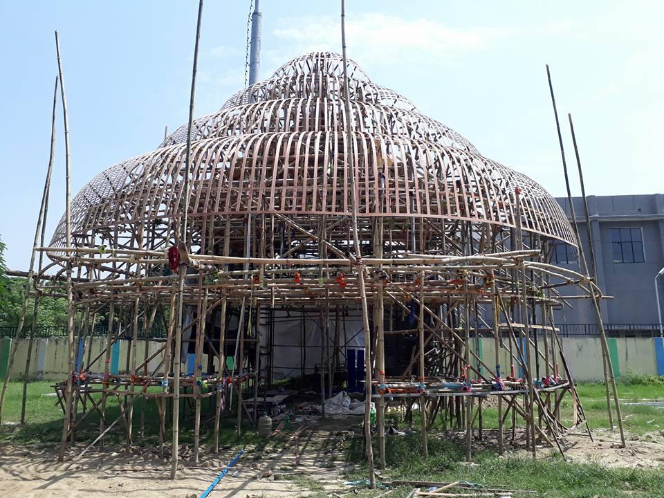 Durga Puja Pandal in Noida Sector 71