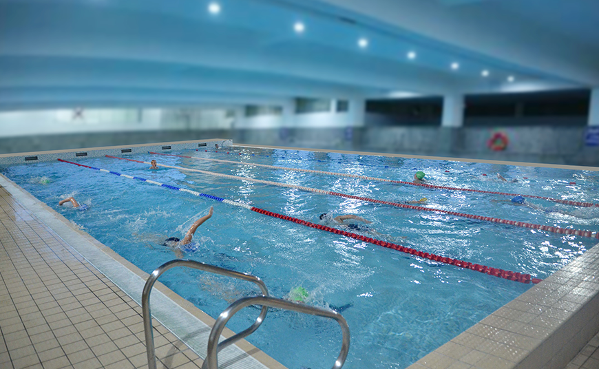 First Indoor Heated Swimming Pool in Noida for Public