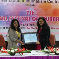 Awarded Life Membership of International Journalism Centre at 7th Global Festival of Journalism