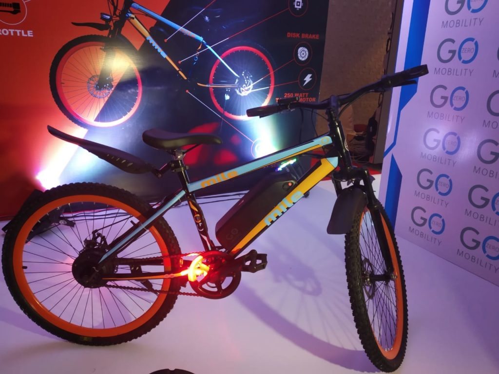 Mr. Ankit Kumar, CEO, GoZero Mobility (British E-Bike Makers) launched two Premimum E-Bikes 'One & Mile' today at New Delhi