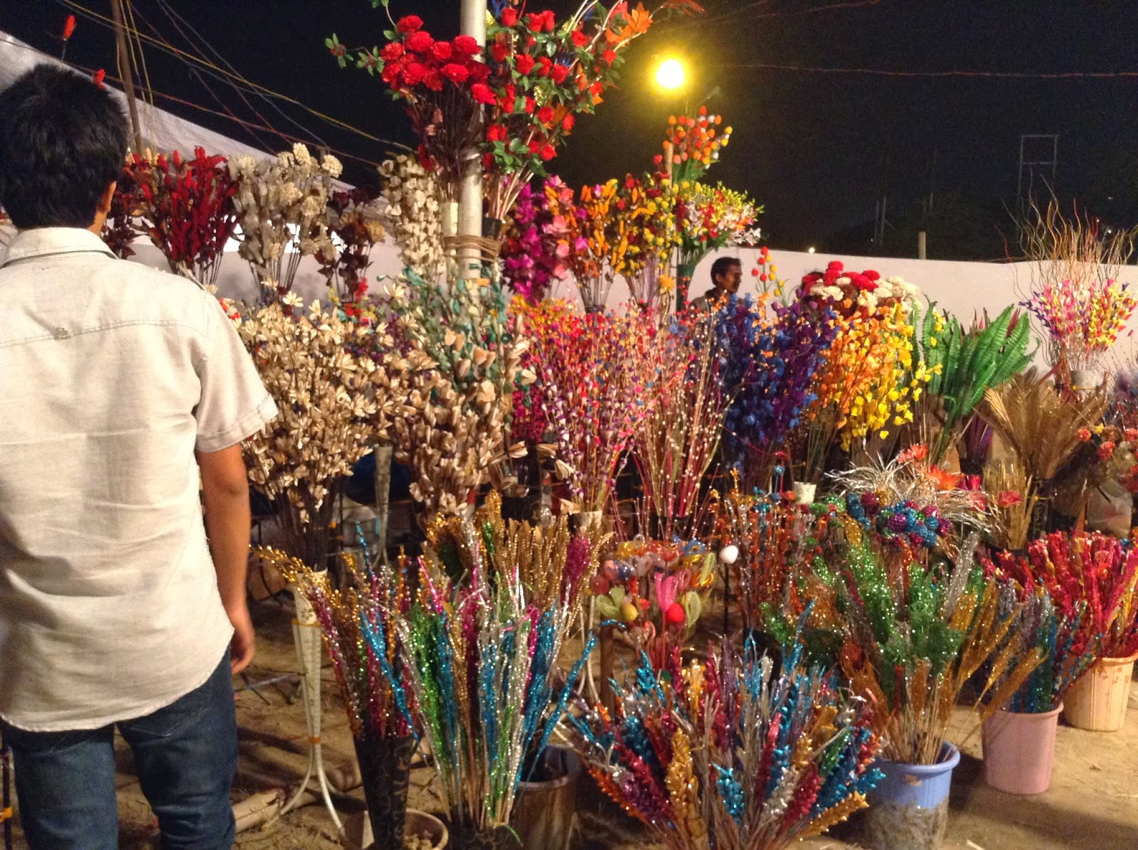 Decorative Flower Stall at Deep Utsav 2013, Noida