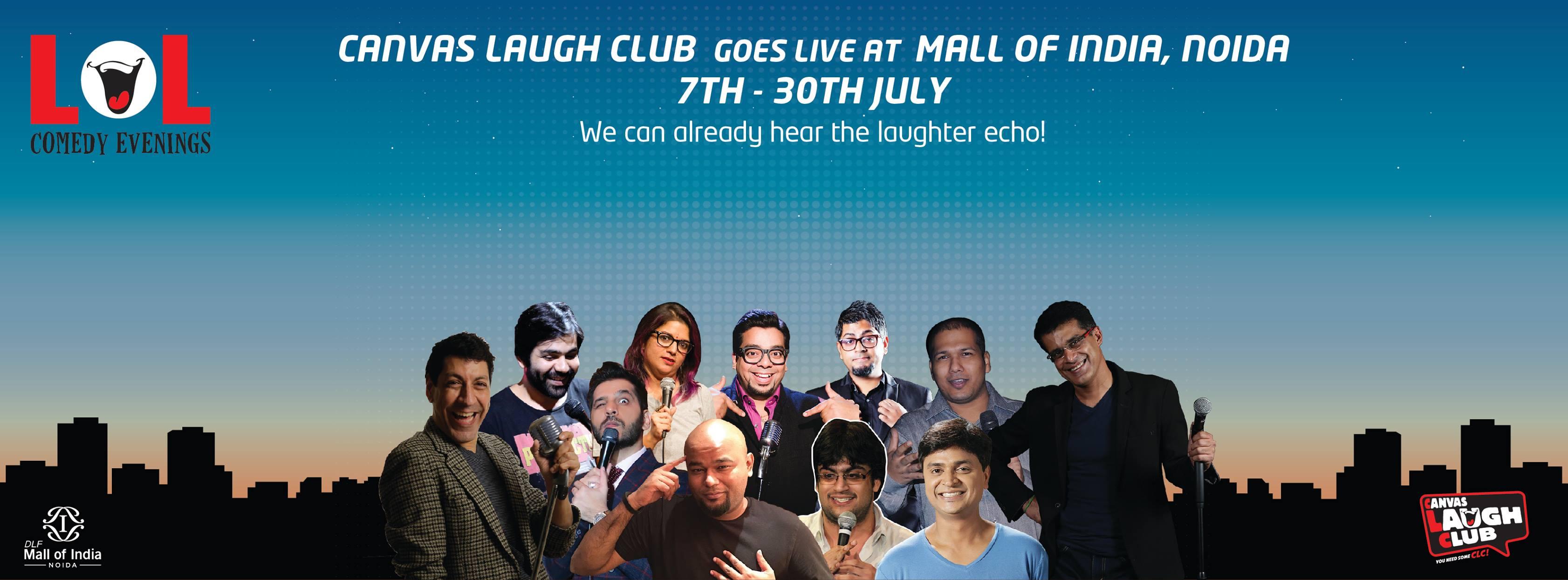 Canvas Laugh Club lol Evenings Noida