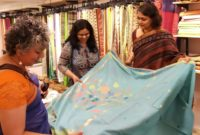 Ethicus Presents Sustainable Fashion with Hand Woven Organic Cotton Saree Collection Crossroads